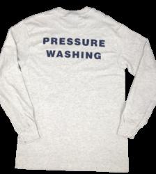 Back View of 'Pressure Washing' T-Shirt